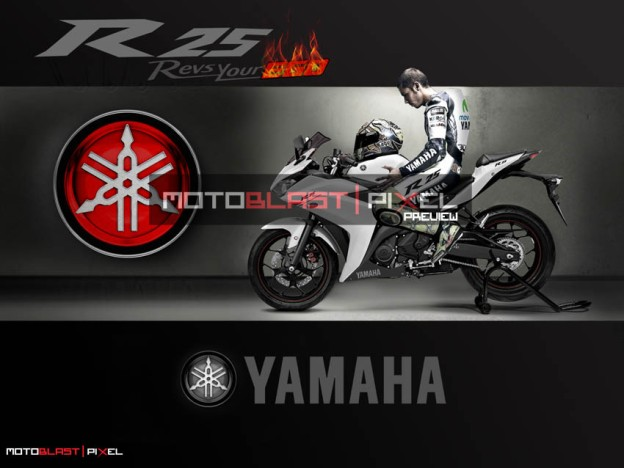 Free Download Wallpaper Yamaha R25 V Rossi  MOTOBLAST