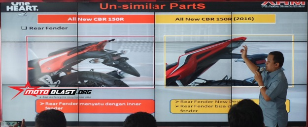 UN SIMILAR PARTS-ALL NEW CBR150R